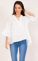 A New Day top in white