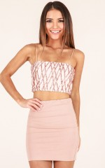 Above Love top in blush