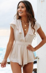 Arcadia Playsuit in Natural