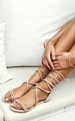 Showpo x Billini - Arizona Sandals in dusk micro