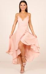 Bad Liar dress in blush