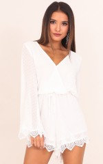 Call Me Pretty playsuit in white