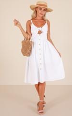 Cascading Petal dress in white