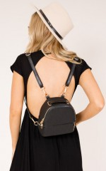 Check On It convertible backpack in black
