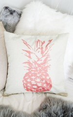 On The Couch cushion cover in pink