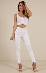 Brooke Skinny Jeans in White