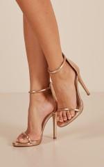 Billini - Damita Heels in rose gold metallic