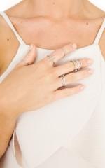 Diamonds Forever ring set in silver