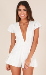 Dream Babe Playsuit in white lace