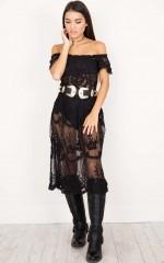 Dreamy Girl maxi dress in black lace