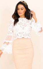 Free Spirit top in white lace