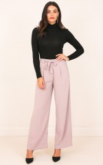 Girl On Top Pants in Taupe
