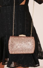 Glitter Queen clutch in gold