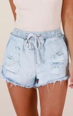 Home Girl denim shorts in light wash