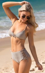 High Tide Bikini in light khaki