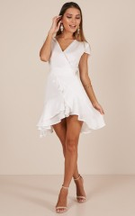 In Theory dress in white