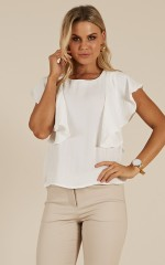 Lady Power top in white