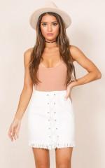 Lima Denim skirt in white