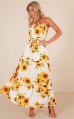 Like A Fairytale maxi dress in  white floral