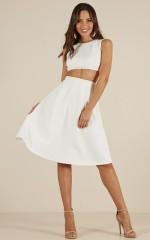 Like A Lady Two Piece Set in White