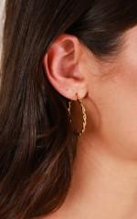Los Angeles Bound earrings in gold