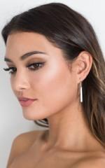 Lining Up drop earrings in silver