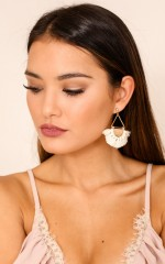 Made It Down earrings in white