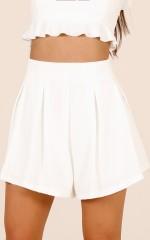 Midnight Light shorts in white