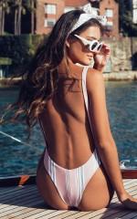 Milos One Piece In Blush Stripe