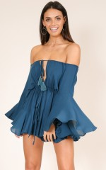 Montana playsuit in teal