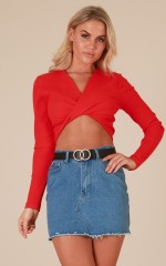 Moon Rising crop top in  red