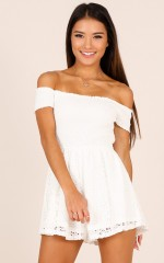 More Life playsuit in white lace