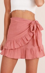 Only On Weekends skirt in dusty pink