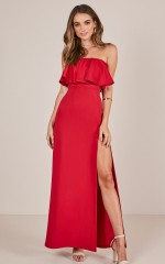 Poets And Lovers Maxi Dress in Red