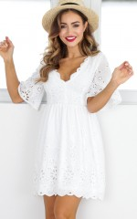 Ribbon In The Sky dress in white