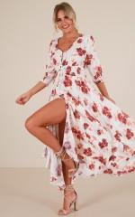Lone Traveller maxi dress in white print