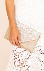 Need To Know clutch in tan