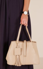 Run For Cover bag in nude