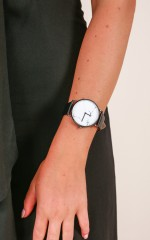 Say It Loud watch in black and silver