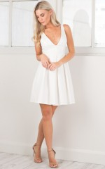 Stand By Me Dress in white