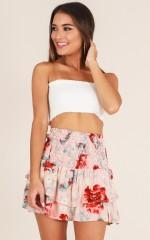 Seasons Change skirt in pink floral
