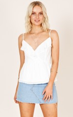 Sundays In The Park top in white