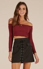 Most Loved skirt in black suedette