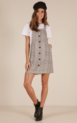Mad About You dress in grey check