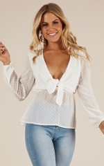 Sweet and Sour Top in white