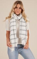 Take Me Away scarf in white check