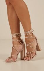 Lipstik - Ibbie heels in cashew