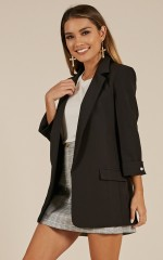 Challenge Accepted blazer in black