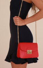 What I Want bag in red