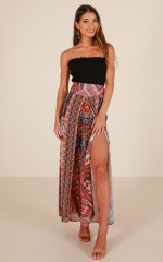 Look To You pants in wine print